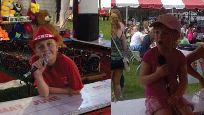 kin kids at carnival