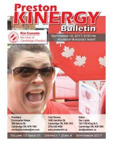 KINERGY Bulletin September 2017 cover