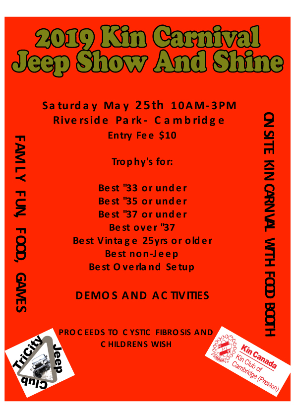 carnival jeep show with trophies