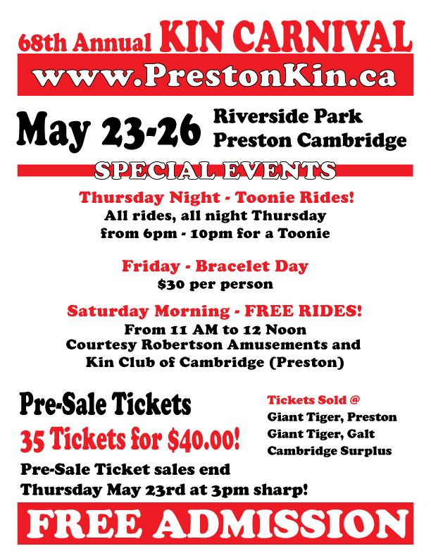 Carnival May 23-May 26